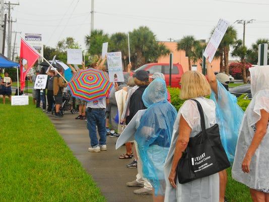 Comprehensive Health Services protest