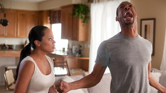 "Marlon Wayans and Essence Atkins in a scene from ""A Haunted House."""