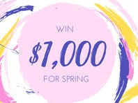 $1,000 Spring Shopping Sweepstakes!