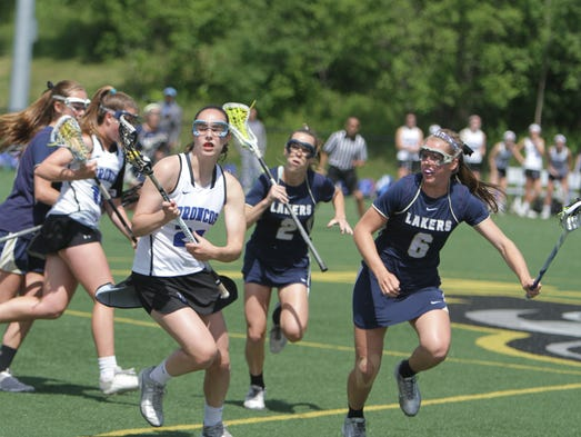 Bronxville's Olivia Jensen controls the ball in the