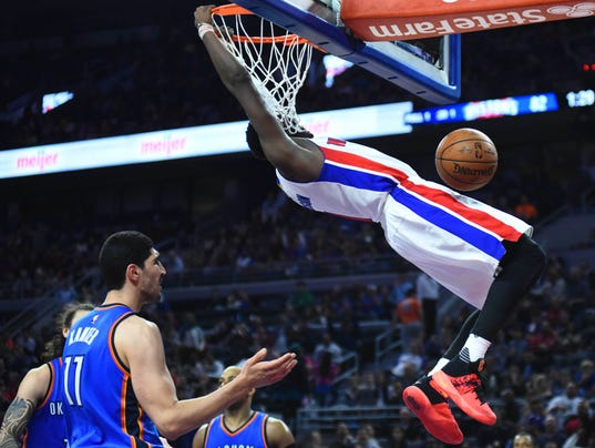 detroit pistons reggie jackson gets last laugh vs okc