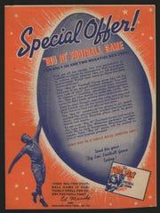 Edgar 'Eggs' Manske, born in Nekoosa, was featured on this Wheaties box.