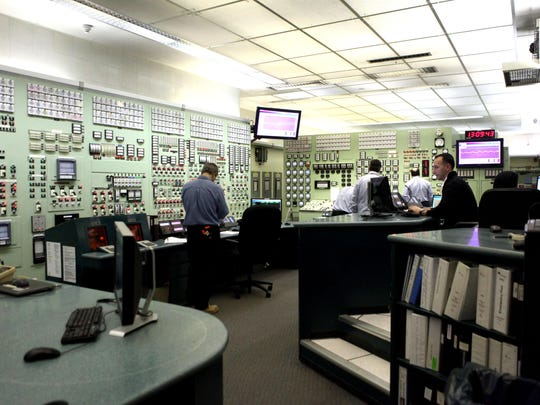 A view inside the control room at the Indian Point