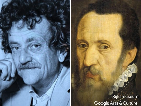 """Kurt Vonnegut matched with """"Portrait of Fernando Alvarez"""