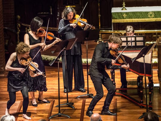 "Finnish baroque violinist Antti Tikkanen leads a period-instrument performance of Vivaldi's ""Four Seasons"" at the Staunton Music Festival in 2015."