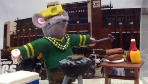 """""""Tail-gating"""" is a one-of-a-kind mouse that will be raffled off at the Dec. 6 St. Nicholas Faire at the Cathedral of St. Paul."""