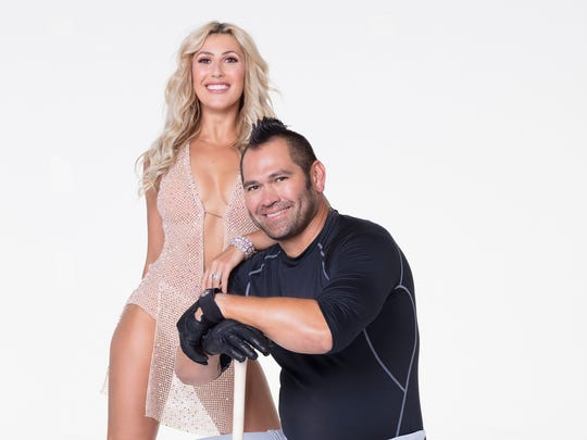 Baseball player Johnny Damon with his partner, Emma