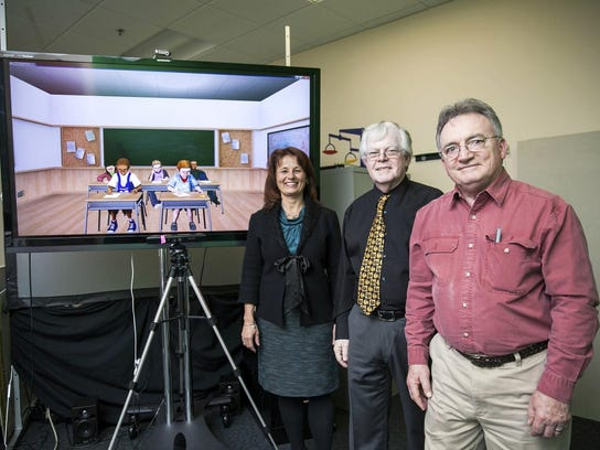 A virtual classroom is displayed by Lisa Dieker, Charles