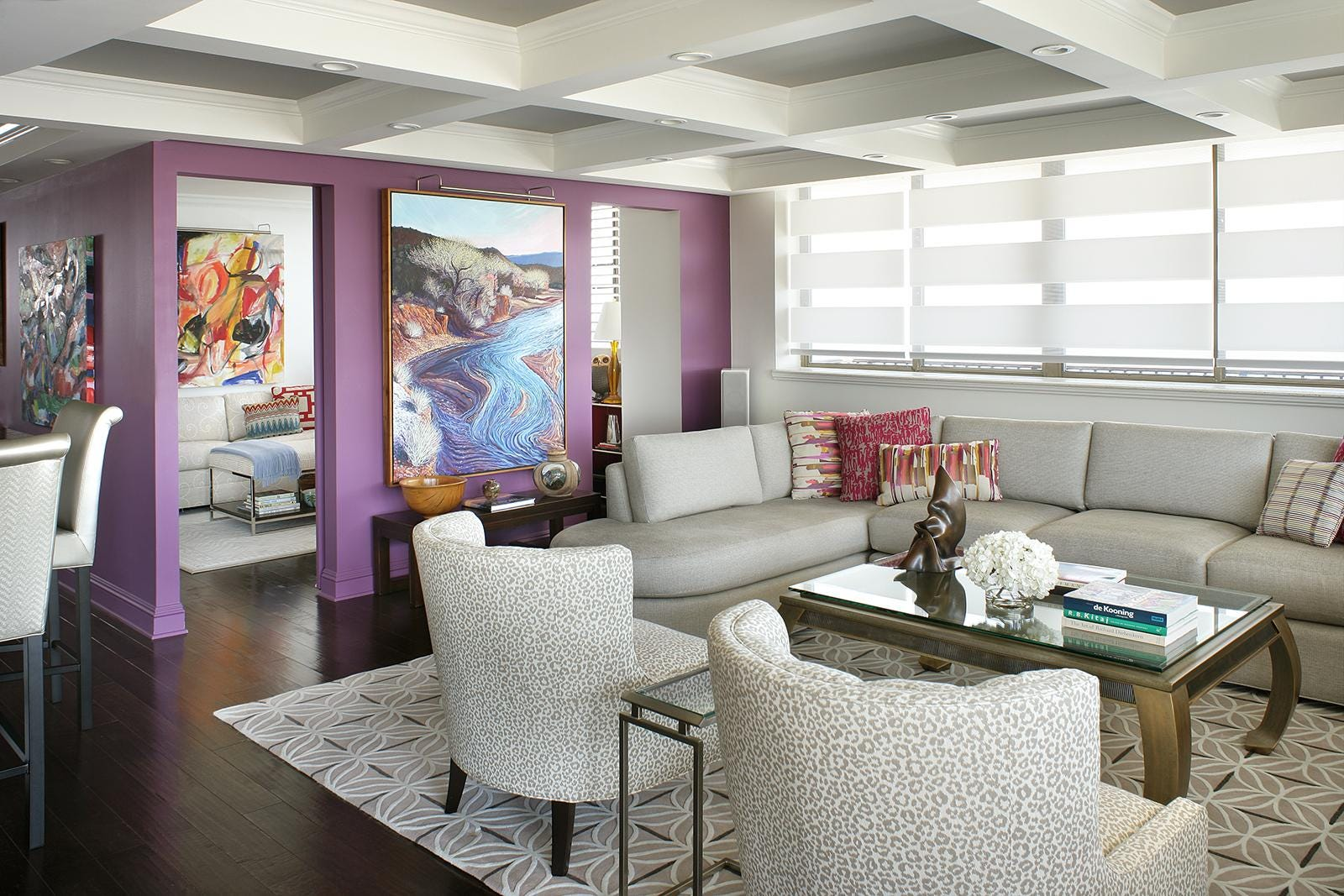 Motorized Blinds Can Protect Furniture And Reduce Energy Consumption In  Summer. (Photo: COURTESY OF Peter Rymwid)