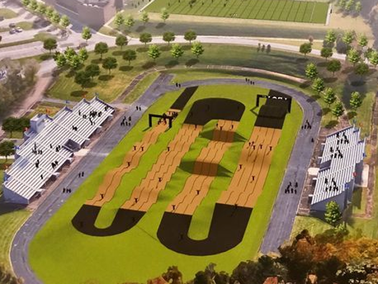 A rendering of the track, which is scheduled for completion by Fall 2018.