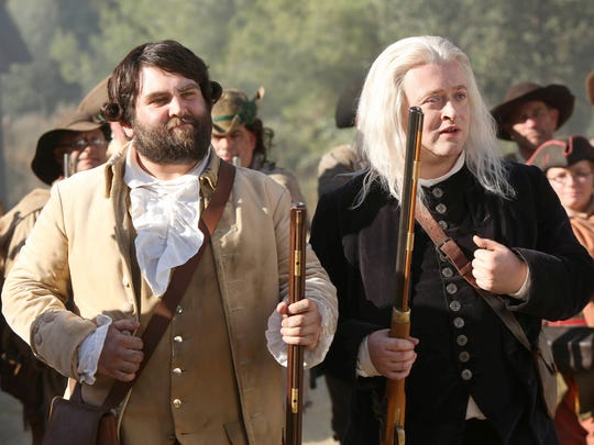 Wilmington's Neil Casey as Sam Adams (right) and