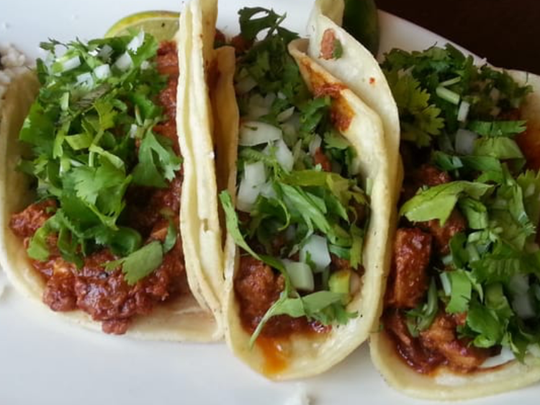Al pastor tacos at Casa Luna Mexican Grill in Somerville