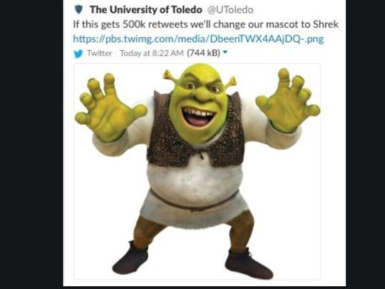The University of Toledo jokingly said it would change