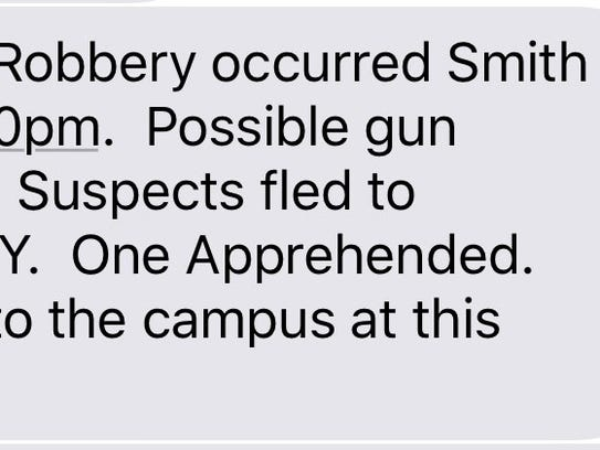 An emergency alert was sent out to Binghamton University