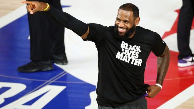 LeBron James has not shied away from making statements with his clothing when he enters an arena.