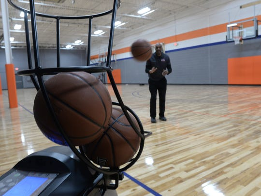 Whether short jumpers on long-distance bombs, one of seven stations at The Practice Zone allows for players to automatically receive balls in a variety of shooting positions.