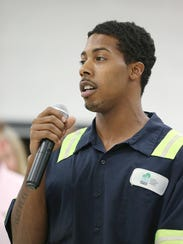 RecycleForce employee Brandon Hughes shares his success