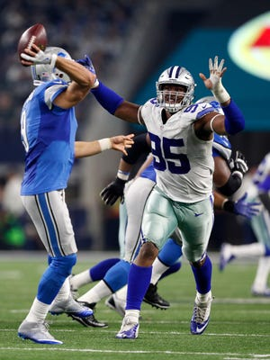 Cowboys defensive lineman David Irving (right) has been a one-man wrecking crew for Dallas in his second NFL season.