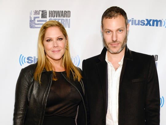 Actress Mary McCormack, left, and husband Michael Morris