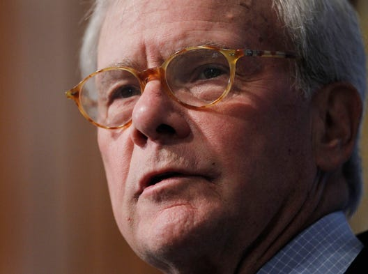 Journalist and author Tom Brokaw, announced on Feb. 11, 2014, that he's being treated for cancer of the bone marrow called multiple myeloma. He was diagnosed in August.  He speaks at the National Press Club in Washington, D.C., in this 2011 file photo.