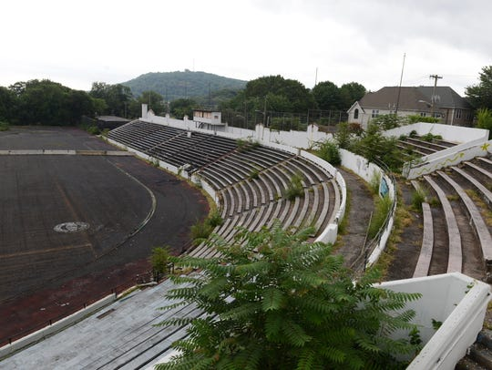 Hinchliffe Stadium in 2015. Paterson hopes to attract