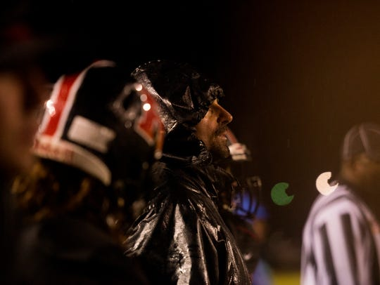 Rossview's Head Coach Todd Hood watches his team play