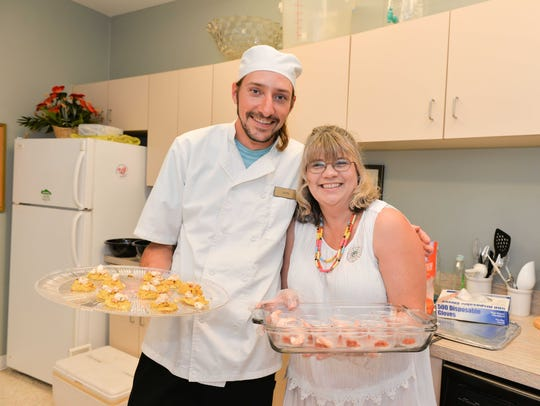 Chef Mark Carver and Fort Pierce Woman's Club President
