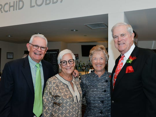 John and Jan Donlan, left, with 2018 Laurel Award honorees