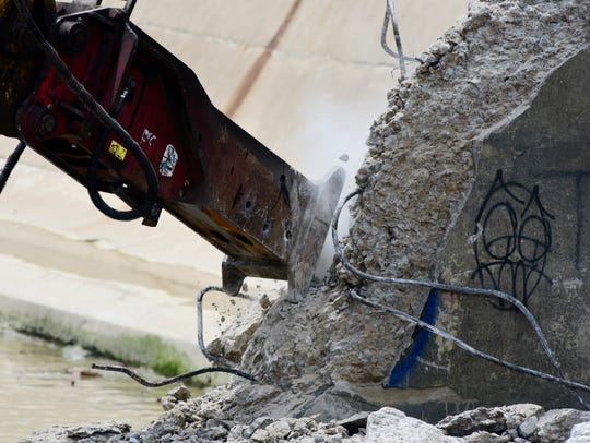 Demolition of the 105-year-old Ballville Dam started