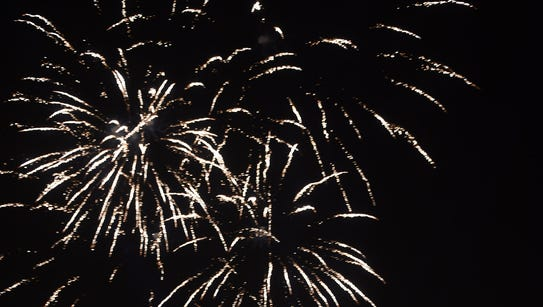 Fireworks on New Year's Day in Karachi on January 1,