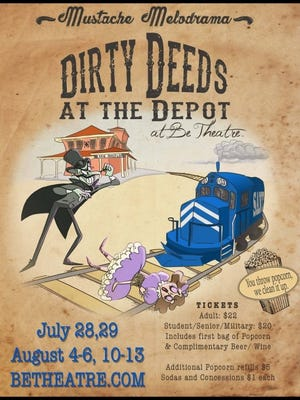 "Be Theatre's summer Mustache Melodrama is ""Dirty Deeds at the Depot."""