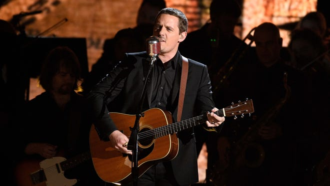 Sturgill Simpson performs during the 59th Annual Grammy Awards at Staples Center. Mandatory Credit: Robert Hanashiro-USA TODAY NETWORK