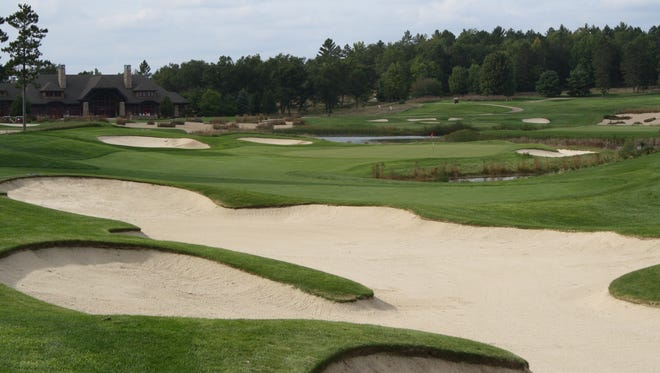 Photo from September on the No. 8 hole at Forest Dunes.