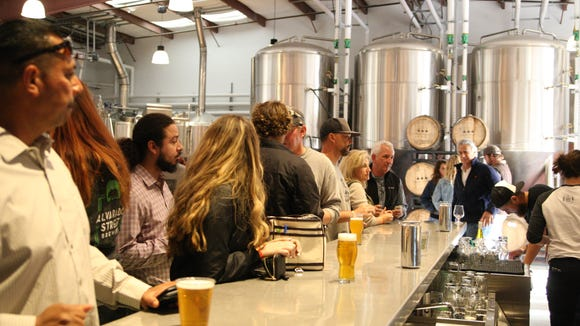 Alvarado Street Brewery and Grill opened a production room and tasting room location in Salinas on Friday night.