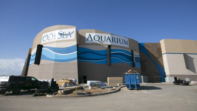 On July 18, 2016, a view of the OdySea Aquarium in the OdySea in the Desert entertainment complex on the Salt River Reservation. The 200,000-square-foot aquarium is set to open around Labor Day.