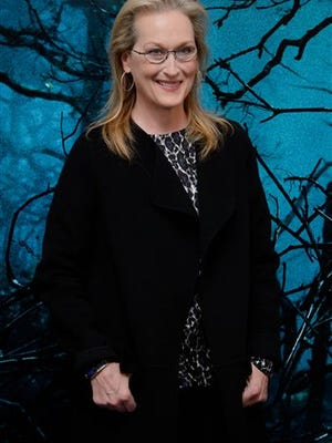 Meryl Streep poses for photographers at a photo call for Into The Woods at a central London venue in this Jan. 7, 2015 file photo.
