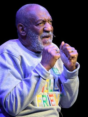Comedian Bill Cosby performs during a show Friday at the Maxwell C. King Center for the Performing Arts in Melbourne, Florida.