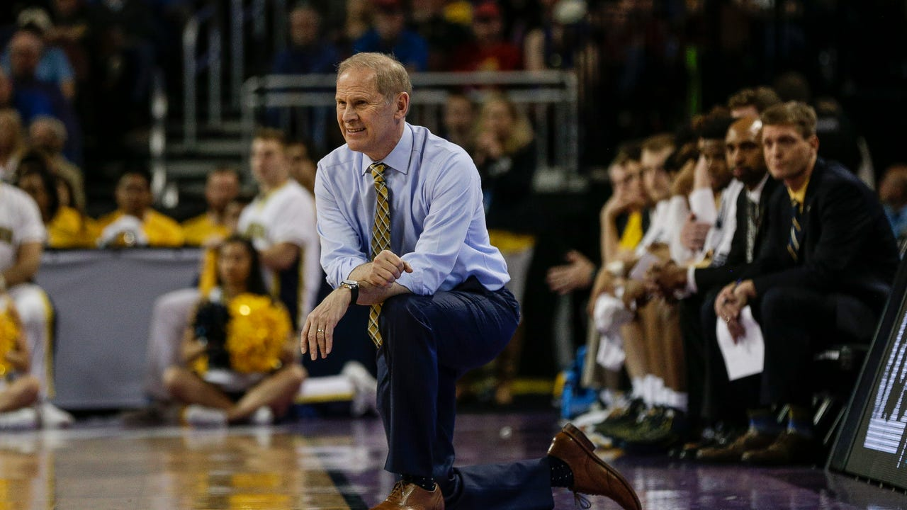 Michigan coach John Beilein discusses the odd scheduling and his team's composure after a 61-47 win over Montana on Thursday, March 15 in the first round of the NCAA tournament in Wichita, Kan.