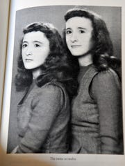 Rogene and Roberta Faulkner at age 12. The twin sisters are now 84 years old and have co-authored a memoir, Roberta and Rogene - The Intrepid Faulkner Twins from Texas.