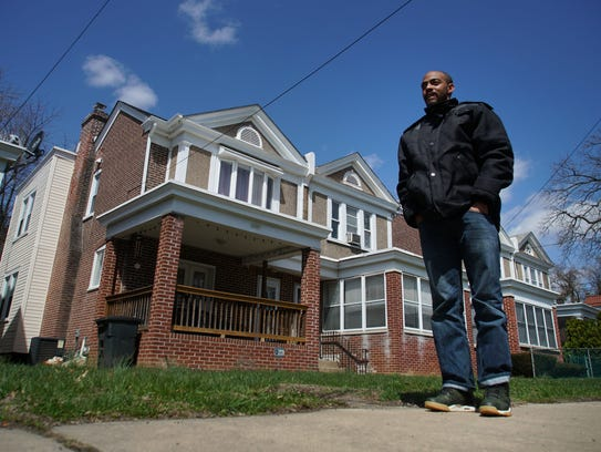 """Eric Mundy worked on this property at 3309 Jefferson St. where he said he made renovations for two full weeks but was only paid for days the nonprofit considered """"on the job training."""" The home was owned by an Interfaith staff member."""