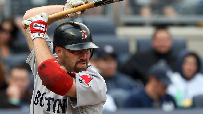 Kevin Youkilis played the majority of his big-league career for the Boston Red Sox.