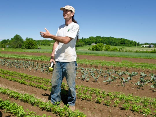 Organic farmer David Zuckerman at Full Moon Farm in