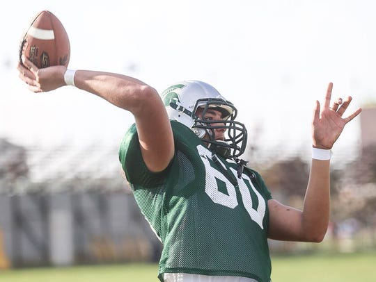 York Tech junior quarterback Josiah Smallwood is second