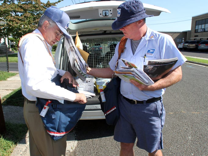 Congressman rush holt delivers mail in manville in support for Best shoes for letter carriers