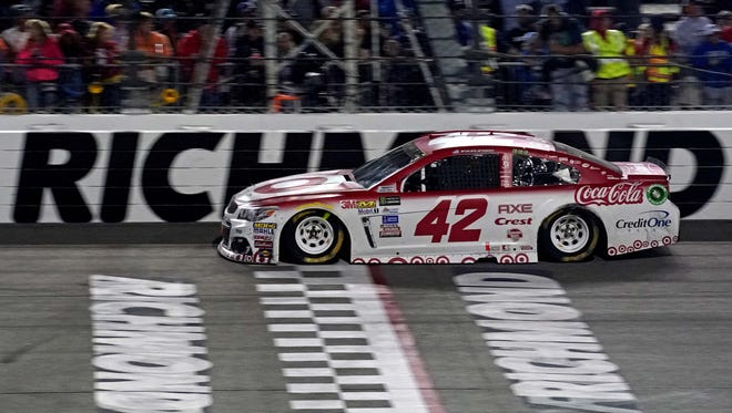 """""""And our pit crew was, oh my gosh, they were so spectacular all night,"""" race winner Kyle Larson said."""