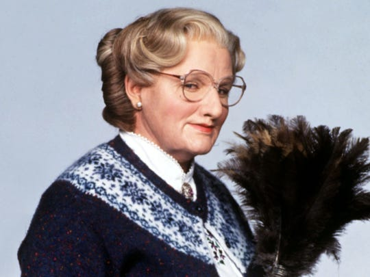 "Robin Williams captivated all ages with his turn as a nanny in 1993's ""Mrs. Doubtfire."""