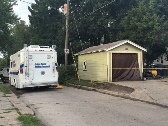 Des Moines police crime scene investigators were on scene Sunday, Aug. 14, 2016, following a fatal shooting at a home in the 600 block of East Euclid.