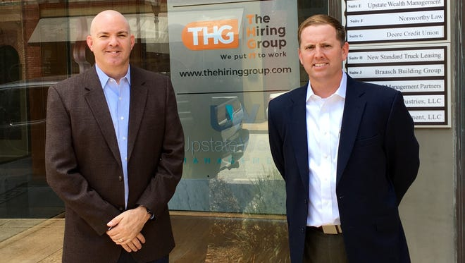 The Hiring Group, a technical staffing firm based in Atlanta, has opened a second location with an office in downtown Greer.