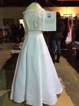 A $125 pristine wedding gown at the Junior League's Whale of a Sale Saturday.