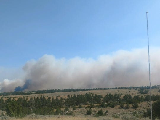 The Bridge Coulee fire has burned more than 30,000 acres. It is 16 miles north of Mosby.
